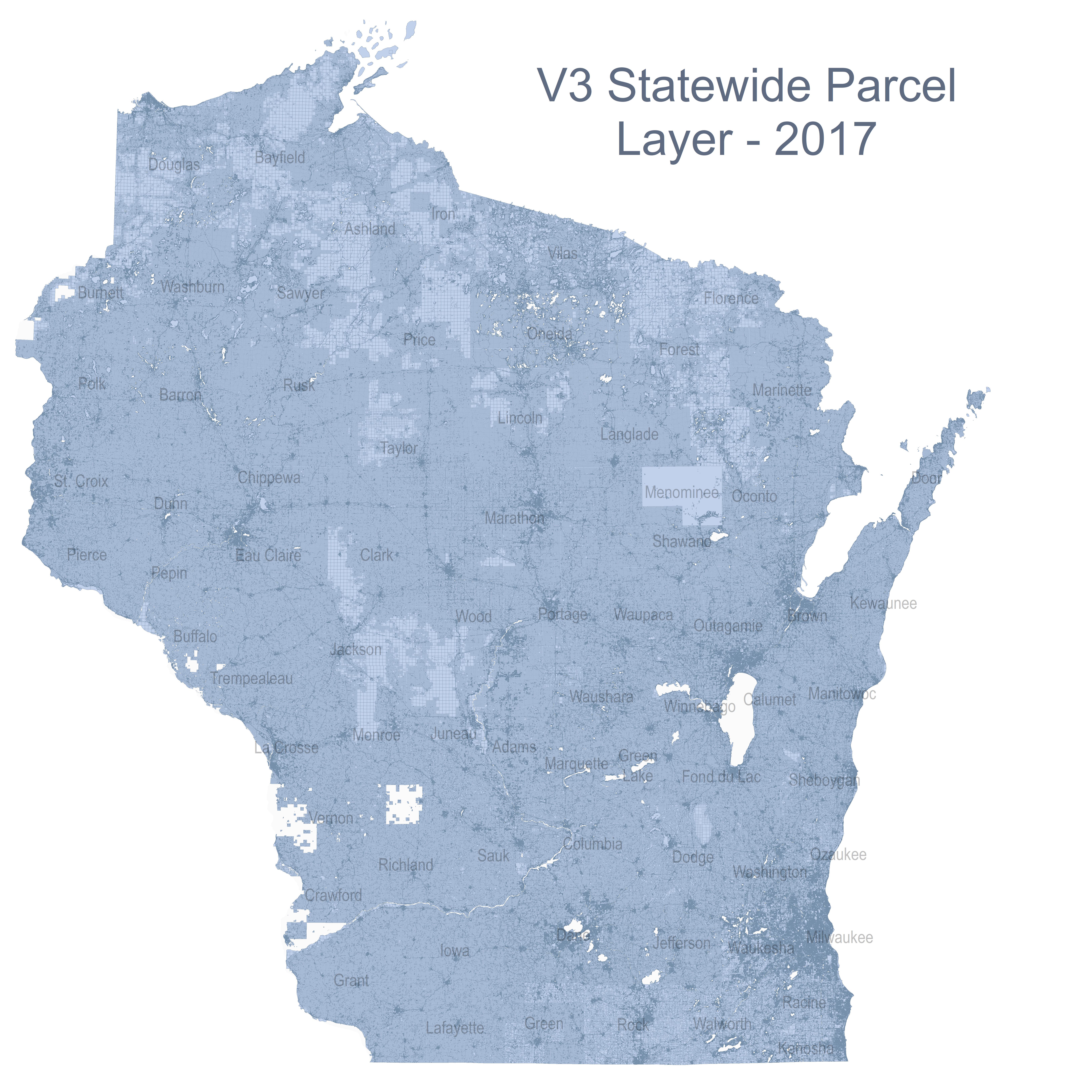 Parcel Data State Cartographers Office UWMadison - Wisconsin state map