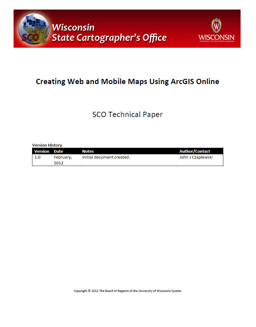 Creating Web and Mobile Maps Using ArcGIS Online – State